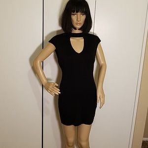 Poetry Brand Cut Out Black Mini Dress